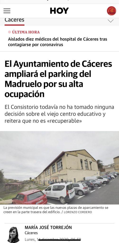 AMPLIACIÓN PARKING MADRUELO